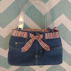 Longaberger blue jean purse